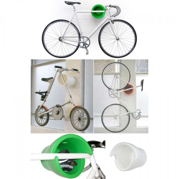 Cycloc_Green-bike-on-wall 2